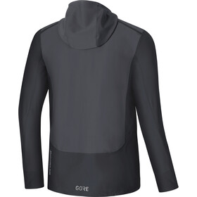GORE WEAR R3 Windstopper Hooded Jacket Herren terra grey/black